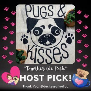 HP!🐶Pugs+Kisses💋 Market Tote 100% Cotton Roomy